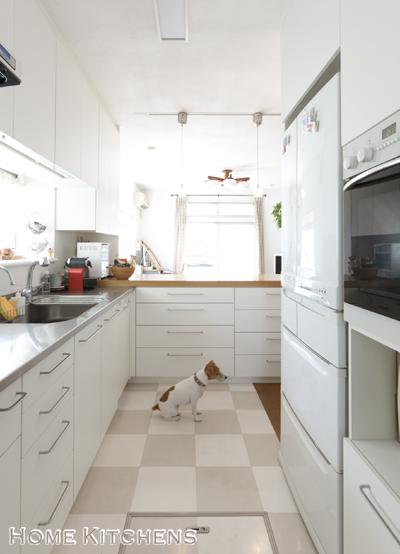 インテリアBOOK :: HOME KITCHENS-冷蔵庫位置3